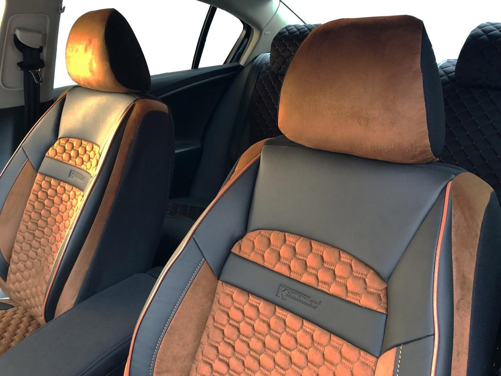 Car seat covers fit VOLVO V90 Leatherette beige
