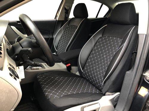 Housses de siége protecteur pour Seat Leon IV noir-blanc V13 siéges avant