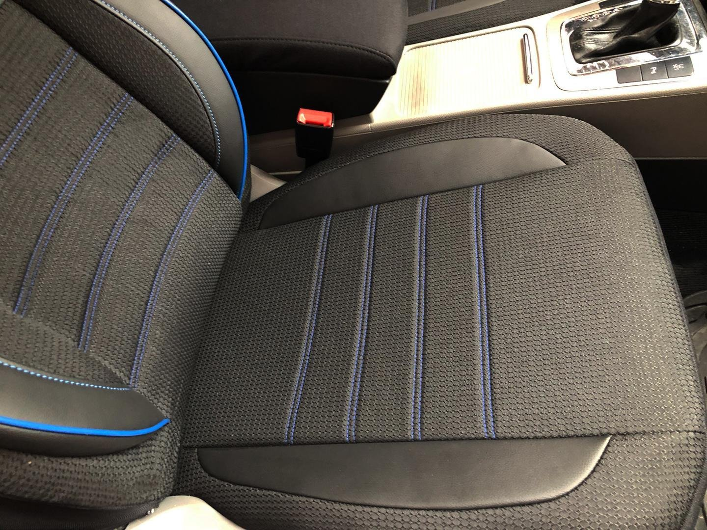Car Seat Covers Protectors For Dodge Journey Black Blue V23 Front Seats
