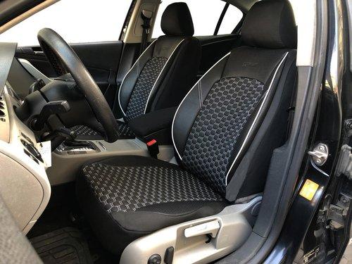 Sitzbezüge Schonbezüge für Audi A1(GB) schwarz-weiss V15 Vordersitze