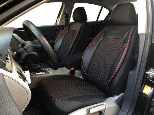 Sitzbezüge Schonbezüge für Skoda Kamiq schwarz-rot V16 Vordersitze