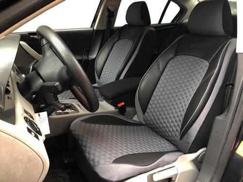 Sitzbezüge Schonbezüge für Audi A1(GB) schwarz-grau V17 Vordersitze